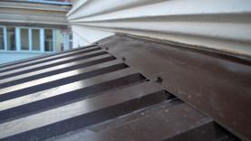 Крыша на балконе из металлопрофиля