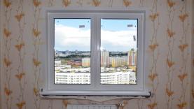 Окно ПВХ с откосом из сэндвич панелей