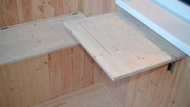Откидной столик из мебельного щита